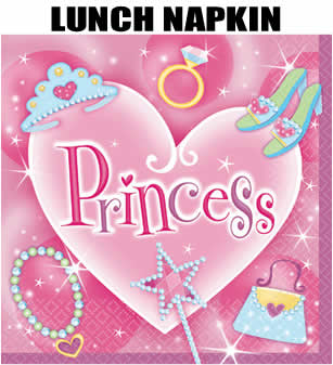 16 Princess Party Lunch Napkins