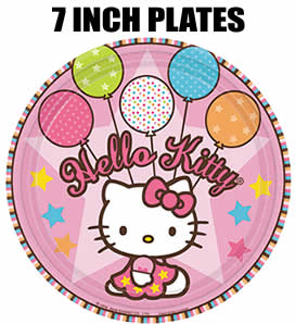 8 Hello Kitty Party Balloon Dreams 7 inch Cake Plates
