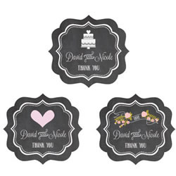 Chalkboard Wedding Personalized Frame Labels