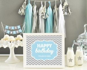 Personalized Typography Birthday Sign