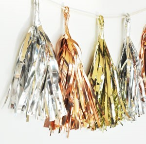 Metallic Mini Tassels (set of 6)