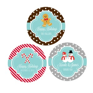 Personalized Winter Round Favor Labels