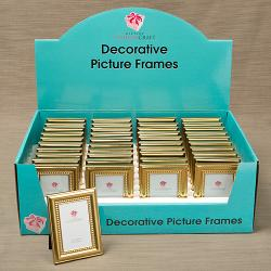 40 Shiny Gold Picture Frames Beaded Inner Border