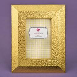 Gold PU Frame 4 X 6 With Wide Border And Beveled Edge Gift