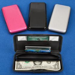 Large Aluminum Wallets In Solid Colors Gift