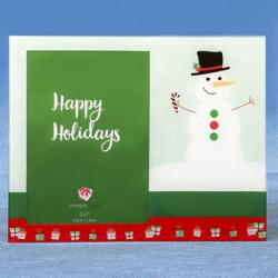 Glass Holiday Snowman 5x7 Frame