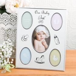 Baby Collage Aluminum Frame Gift