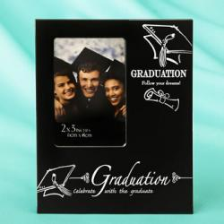 Black & Silver Graduation 2 X 3 Mini Frame Gift