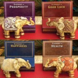 Decorative Mini Elephants SET OF 4 ASSORTED