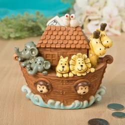 Adorable Noah's Ark Bank Gift