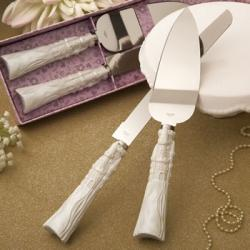 Fairytale Cinderella Stainless Cake Cutter And Knife Set