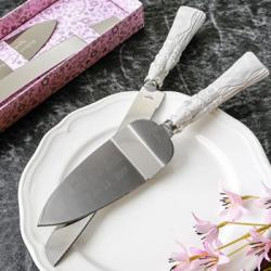 Engraved Fairytale Cinderella Themed Stainless Cake Cutter And Knife
