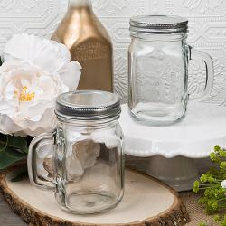 12 Ounce Perfectly Plain Glass Mason Jar With Handle