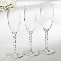Elegant Champagne Flutes SET OF 12