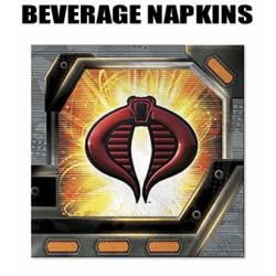 16 GI Joe Beverage Party Napkins