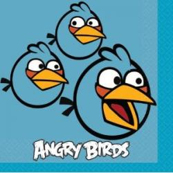 16 Blue Angry Birds Beverage Napkins