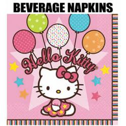 16 Hello Kitty Beverage Napkins for Party