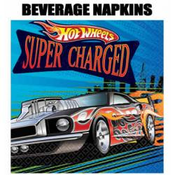 16 Hot Wheels Kids Party Beverage Napkins