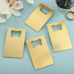 - Credit Card Brushed Gold Stainless Steel Bottle Opener