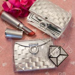 Pocketbook-Design Elegant Mirror Compact Favors