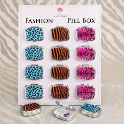 Animal Print Pillbox SET OF 12