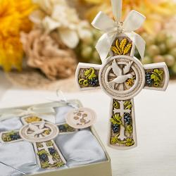 Holy Natures Harvest Themed Cross Ornament