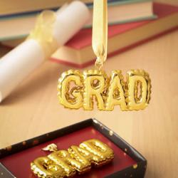 Gold Grad Hanging Ornament Gift