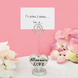 All You Need Is Love Heart Design Placecard Holder - Photo Holder