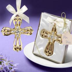 Majestic Gold Cross Ornament