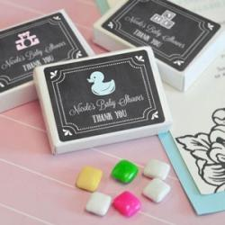Chalkboard Baby Shower Personalized Gum Boxes