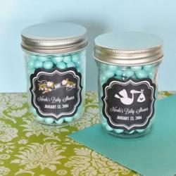 Chalkboard Baby Shower Personalized Mini Mason Jars