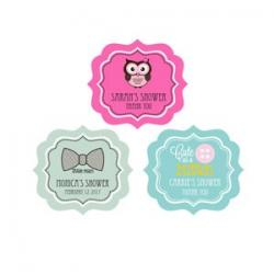 Personalized Baby Shower Frame Labels
