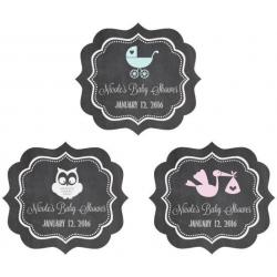 Chalkboard Baby Shower Personalized Frame Labels