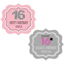 Personalized Sweet 16 or 15 Frame Labels