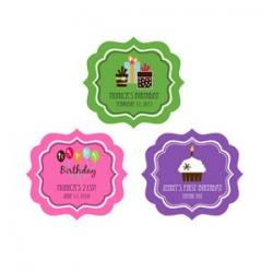 Personalized Birthday Frame Labels