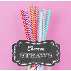 Chevron Paper Straws (set of 25)