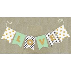 Gold Glitter Banner - Wedding