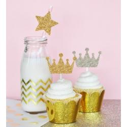 Glitter Tiara Stickers (set of 24)