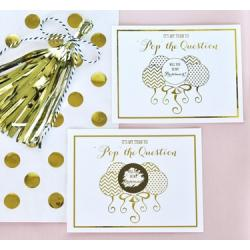 Pop The Question Scratch-Off Bridesmaid Cards (set of 8)