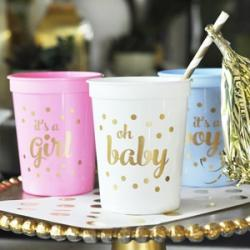 Gold BABY Shower Party Cups (set or 25)