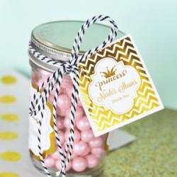 Personalized Metallic Foil 2 inch Square Favor Labels - Tags - Baby