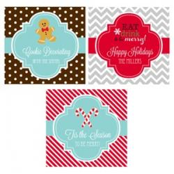 Personalized Winter 2 inch Square Favor Labels and Tags