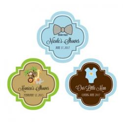 Personalized Baby Shower 1.5 inch Mini Favor Labels