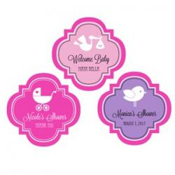 Personalized Baby Silhouette 1.5 inch Mini Favor Labels