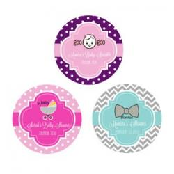Personalized Baby Shower Round Favor Labels