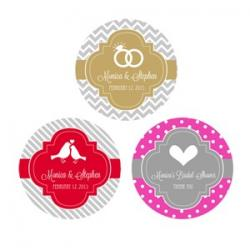 Personalized Theme Silhouette Round Favor Labels