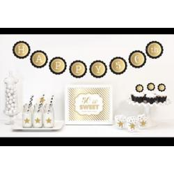 Gold & Glitter Birthday Decor Kit