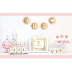 Gold & Glitter 1st Birthday Party Decor Kit