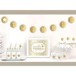 Gold & Glitter Twinkle Twinkle Party Kit