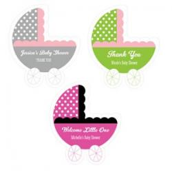 Personalized Baby Carriage Labels